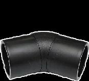 Отвод 45 градусов 200 литой полиэтиленовый ПЭ 100 SDR 17