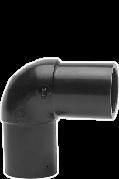 Отвод 90 градусов 75 литой полиэтиленовый ПЭ 100 SDR 17