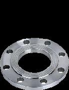 Фланец стальной расточенный 100/125 под втулку ПЭ (ПНД) ру 16